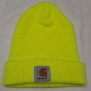 a812d89f7c09c Image is loading Carhartt-High-Vis-Yellow-Hat-Knit-Cap-Beanie-