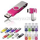 128MB~ 64GB USB Flash Drives 2.0 Memory Stick Rotate Pen Drive Storage U Disk PC
