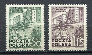 35608) Poland 1951 MNH New Six Years Plan 2v