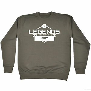 LEGENDS ARE BORN IN MARCH HOODIE month joke hoody funny birthday gift present