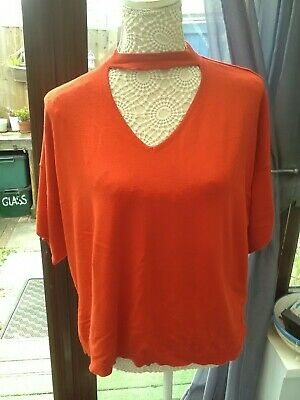 Size 20 Ladies New F/&F Red Tie Back Camisole Vest Top UK Plus Size