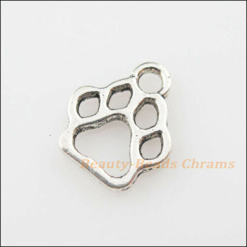 70Pcs Tibetan Silver Tone Tiny Bear/'s-paws Charms Pendants 11x13mm