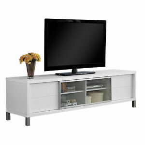 Details About Monarch Specialties 70 Inch European Style Television Stand Media Center White