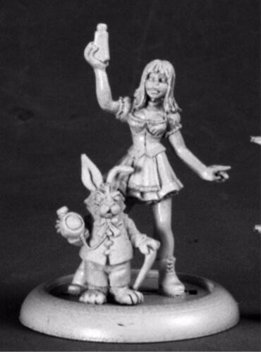 Chrono Alice And White Rabbit Miniature by Reaper Miniatures RPR 50209