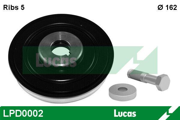 Poulie damper LUCAS LPD0002 pour 206, C5, JUMPY, EXPERT, XSARA, 306, 306 BREAK