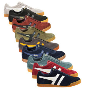 Scarpe Sneakers shoes GOLA Harrier suede uomo man casual stringati laced-up pell