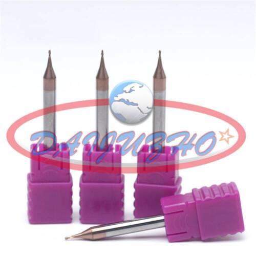 1PCS HRC60 Coated carbure monobloc Micro End Mill 0.2mm-0.9mm 2 Flute CNC NEW