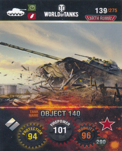 Object 140 Panini World of Tanks trading cards nº 139-Name