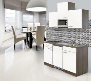 Mini Cucina Angolo Cottura Blocco 150 cm Rovere York Bianco Respekta ...