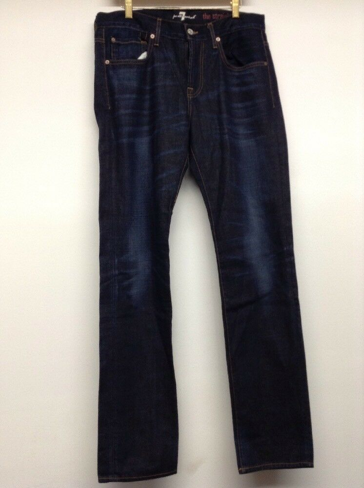 New 7 For All Mankind Women's Straight Leg Jeans Dark Wash Size 33