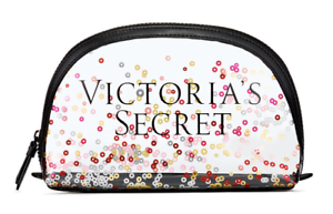 VICTORIA-039-S-SECRET-SPARKLE-SEQUIN-CLEAR-MAKEUP-COSMETIC-CASE-BEAUTY-BAG-ORGANIZER