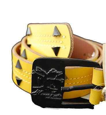 Hanafuda By Yakuza Ink G-ha 214 Unisex Cintura In Pelle, Dimensioni 80 Cm, Giallo-mostra Il Titolo Originale