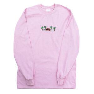 Agora Outrun 8 Bit Long Sleeve T shirt top palewave pink vaporwave ...