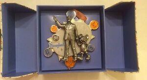 Walt-amp-Mickey-Super-Jumbo-Pin-Artist-SIGNED-LE-500-Disneyland-60th-Anniversary