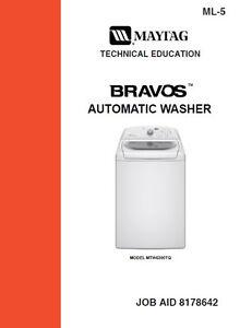 maytag bravos washer service repair manual ebay rh ebay com maytag washer service manual pdf maytag washer service manual pdf