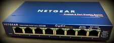 Switch NETGEAR GS-108 8 Port Gigabit 10/100/1000 MBit/s lüfterlos mit Netzteil