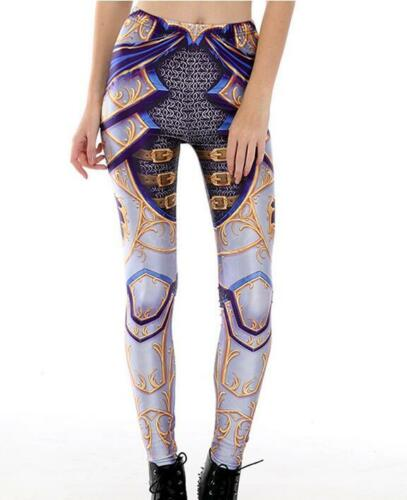 Donna Leggings in ANIME Armor Cosplay stampati Legging Leggings Slim Elastico S-4XL 67