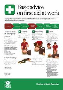Hse Basic Advice On First Aid At Work Poster A3 Ebay
