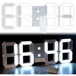 Digitale Wanduhr Groß lunartec digitale led tisch wanduhr 45 cm dimmbar wecker