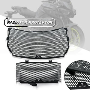 Black-Engine-Radiator-Grill-Grille-Protector-Guard-Cover-fit-YAMAHA-MT10-16-17