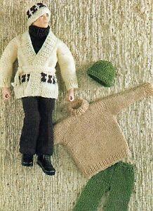 Free Sindy Doll Knitting Patterns : VINTAGE KNITTING PATTERN TO MAKE ACTION MAN SINDY PAUL ...
