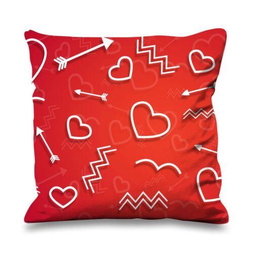 Cupids Love Symbols Cute Valentines Day Faux Silk Heart Shaped Sofa