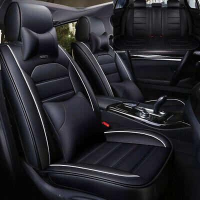Rear Black 11x Car Seat Cover Protector Car Interior Decoration Full Set Front