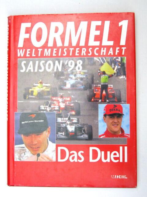"""BUCH FORMEL 1 WELTMEISTER SCHAFT SAISON 1998 """"DAS DUELL"""" SCHUMACHER HÄKKINEN MSC"""