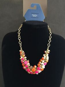 SIMPLY VERA WANG Colorful Rhinestones Beads Women's Necklace Brand New with Tag