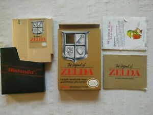 The Legend Of Zelda Nintendo NES CIB Complete w/ Map Manual Box and Coverslip