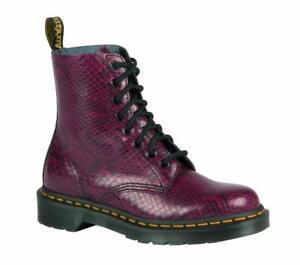 79cd55f56af33 DR MARTENS Women s PASCAL 8 Eye Viper Boots, Wine, UK 3   EU 36 ...