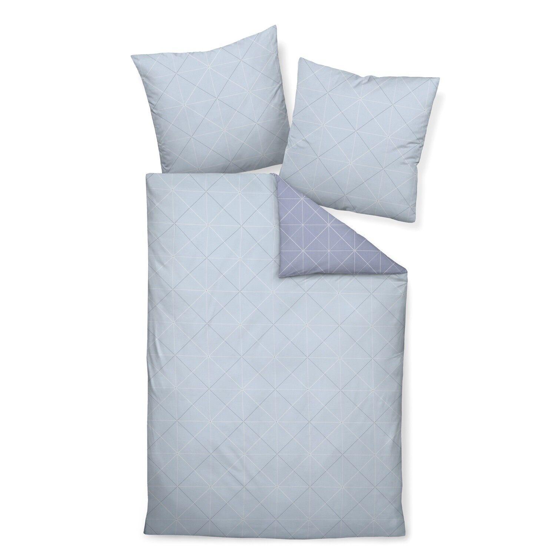 Janine ropa de cama j.d. 87026 08 gris Sterling azul gris 08 rombo líneas Karo Mako satén 1afcda