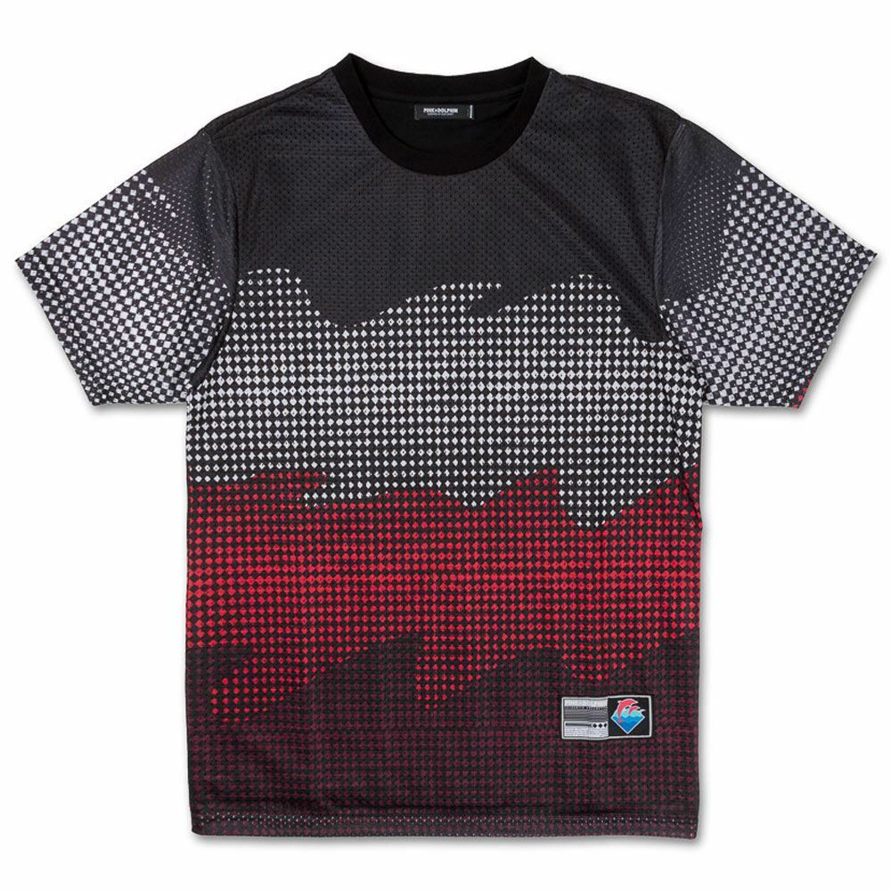 rosa Dolphin onde mezzitoni T-shirt nera