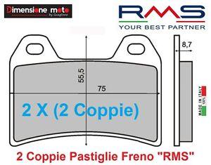 1100-2-Coppie-Pastiglie-Freno-Anteriori-RMS-per-YAMAHA-TRX-850-dal-1995-2000