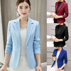 Autumn-Ladies-Women-Long-Sleeve-Slim-Work-Business-Suit-Coat-Jacket-Blazer-Coats