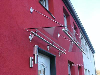 """Edelstahl Glas Vordach """"boston"""" Vordächer 12mm Glas Vordach Glasdach Dinge FüR Die Menschen Bequem Machen Vordächer Fassade"""