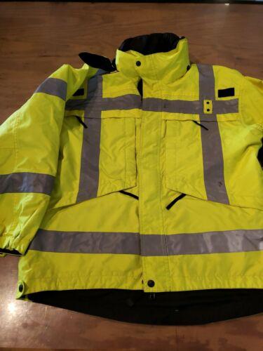 5.11 tactical Series Mens Jacket Black//High vis reversable Police jacket 48033