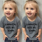 New 2017 Baby Boy Girl Short Sleeve T-shirt Graphic Tee Top Toddler Clothes 1-6Y