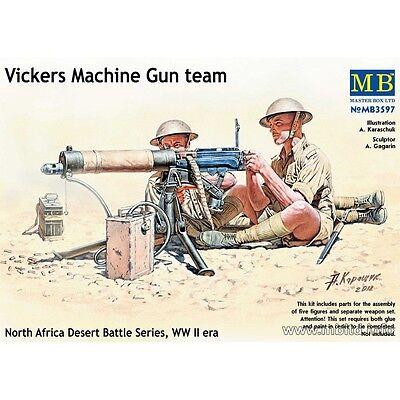 VICKERS MACHINE GUN TEAM  WW II ERA 5 FIGURES 1/35 MASTER BOX 3597