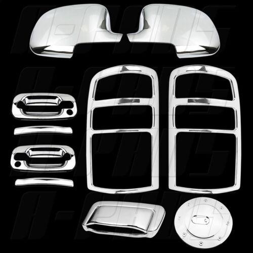 00-06 GMC Yukon Chrome Covers Mirror 2 Door Handles Tailgate Taillight Gas