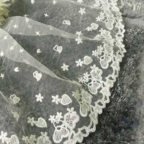 Lace Edge Trim Floral Embroidery Net Tulle Wedding  Sewing Craft DIY 16 Styles