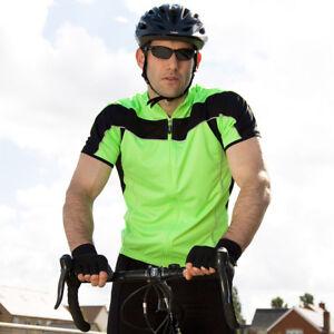 Spiro-Men-039-s-Bikewear-Full-Zip-Performance-Top-Cycling-Shirt-Lightweight-S188M