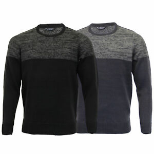 Mens-Knitted-Jumper-Kensington-Eastside-Sweater-Pullover-Top-Acrylic-Winter-New