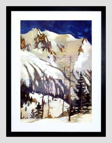 PAINTING MOUNTAINS FRANCE SAVOIE ALPINE MOUNTAIN FRAMED ART PRINT B12X12460