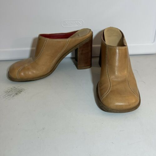 Tommy Hilfiger Leather Clogs Mules Womens 7-7.5 T… - image 1