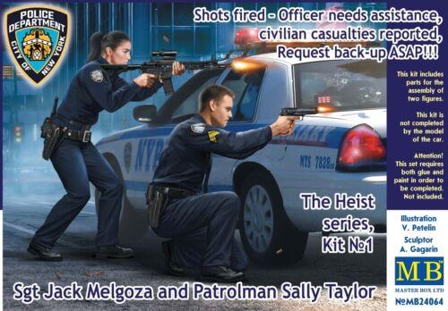 MB24064 MASTERBOX 1//24 Heist Series Sgt Melgoza /& Patrolman Sally Taylor