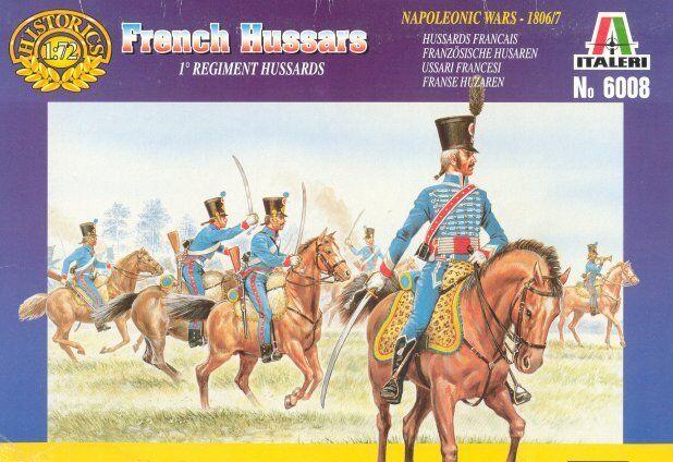 Italeri 1/72 Napoleonic Francés HUSSARS #6008