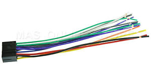 wire harness for jvc kd r950bt kdr950bt *pay today ships today* ebay Stereo Wiring image is loading wire harness for jvc kd r950bt kdr950bt pay