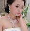 Women-Fashion-Bib-Choker-Chunk-Crystal-Statement-Necklace-Wedding-Jewelry-Set thumbnail 4