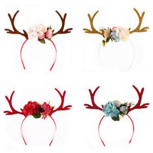 Lovely-Christmas-Reindeer-Antlers-Headband-Girls-Kid-Deer-Costume-Ear-Hairband